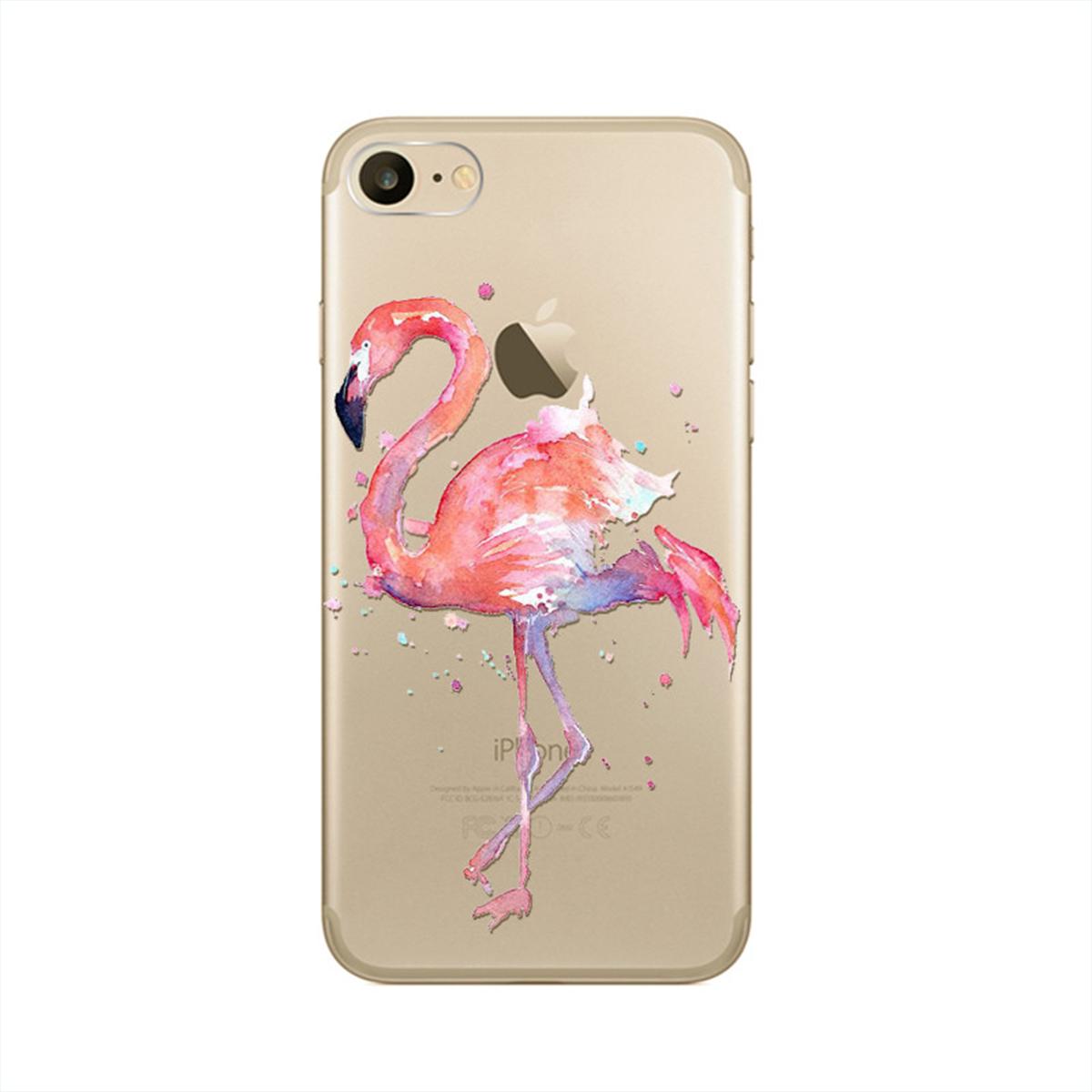 Kritzel Schutzhülle für iPhone 7 - Flamingo