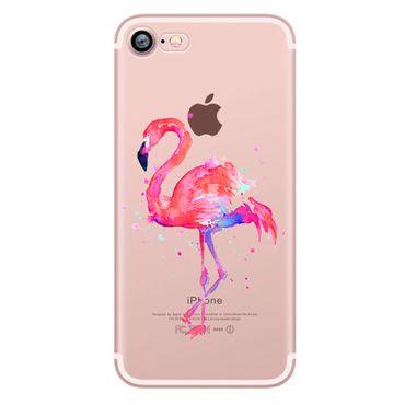 Kritzel Schutzhülle für iPhone 7 - Flamingo #2