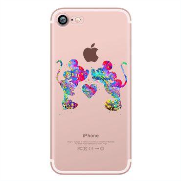 Kritzel Schutzhülle für iPhone 7 - Minnie Mouse / Mickey Mouse