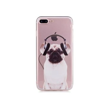 NOXCASE Hardcase für iPhone 7 Plus - Hund mit Kopfhörer