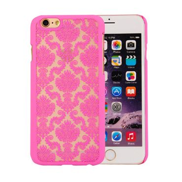 NOXCASE Case iPhone 6 / 6s - Lace / Spitze pink