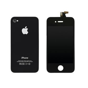 EXO Phone LCD Display + Backcover für iPhone 4G - schwarz
