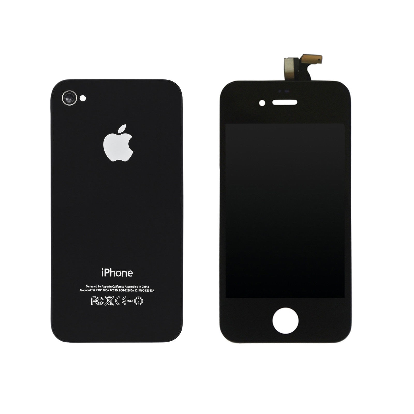 EXO Phone LCD Display + Backcover für iPhone 4S - Schwarz