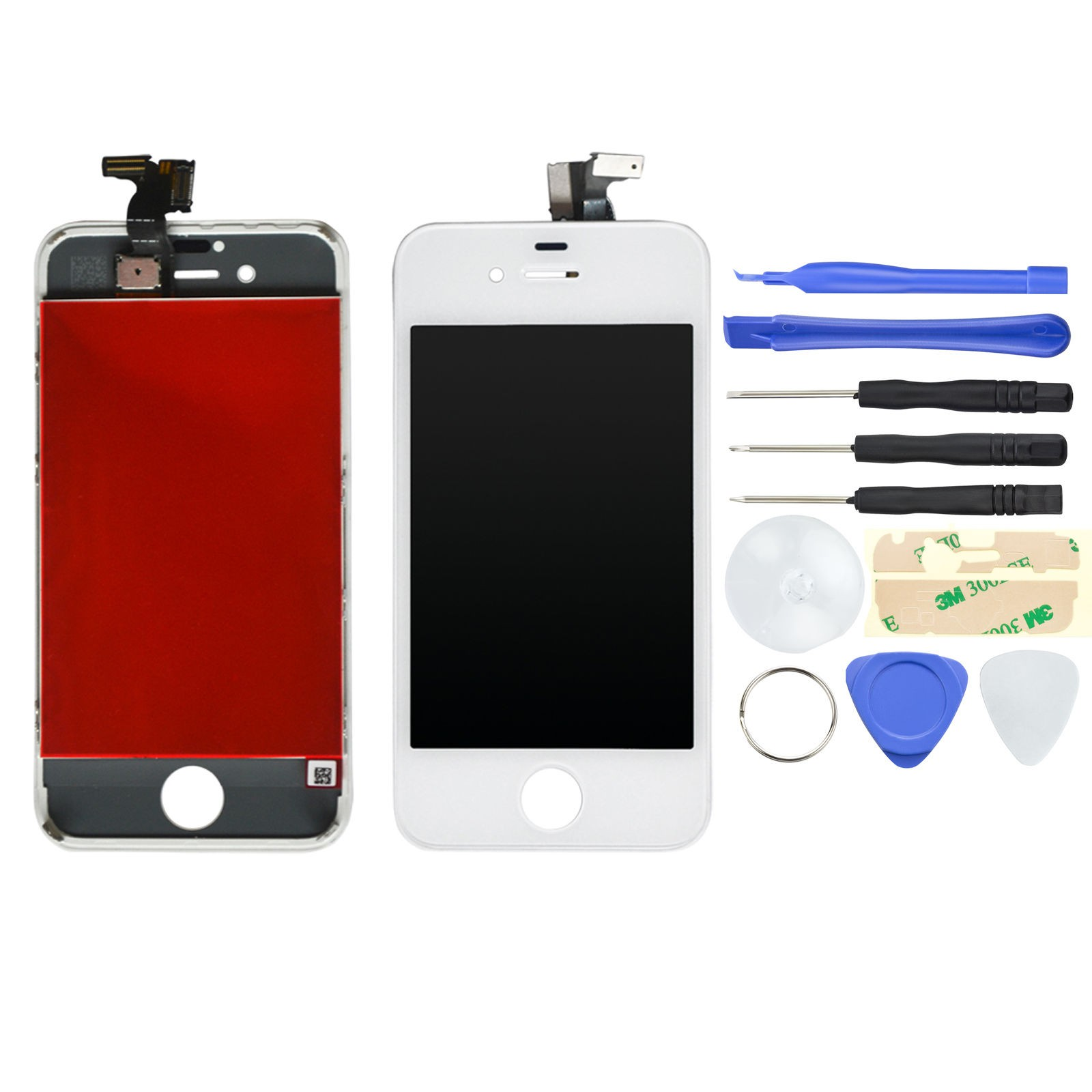 EXO Phone LCD Display + Backcover für iPhone 4 - Weiß