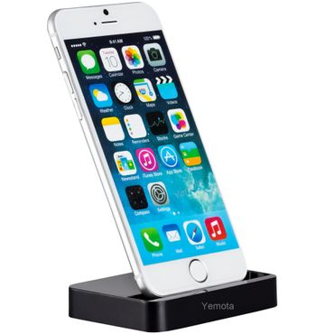 Yemota Pro Dock Station iPhone 6 / 6 plus - Schwarz