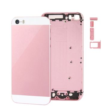 iPhone 5S Cover Akkudeckel Rückseite Housing Gehäuse Middle Frame weiß / rosa - Thumb 2
