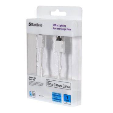 Sandberg Lightning Kabel - Weiß - Thumb 1