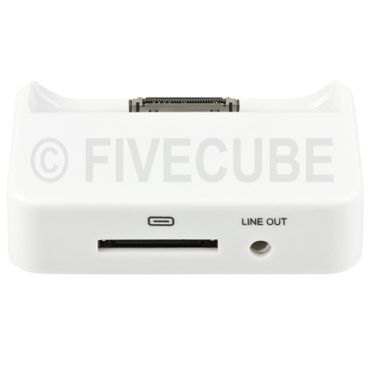 Yemota Pro Dock Station iPhone 4 / 4S - Weiß