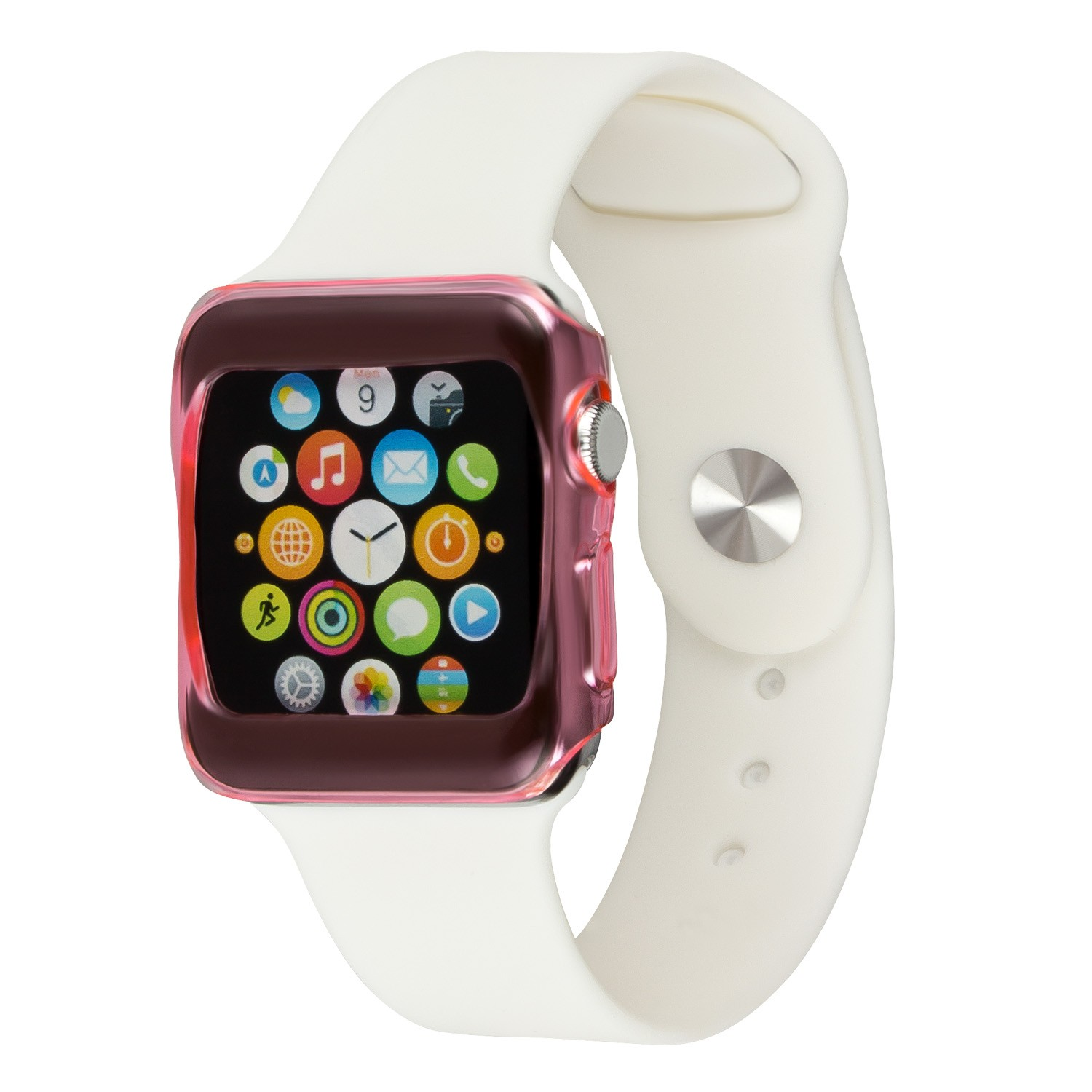 Yemota Pro Slimcase Apple Watch 42mm - Pink / Transparent