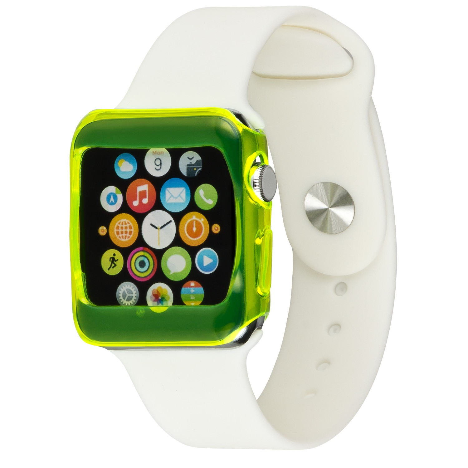 Yemota Pro Slimcase Apple Watch 42mm - Gelb / Transparent
