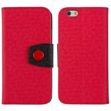 Yemota Pro FlipCase iPhone 6 - Rot / Schwarz