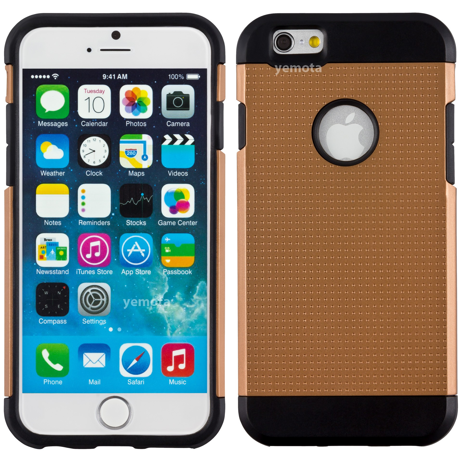 Yemota Pro Hardcase für iPhone 6 - Braun