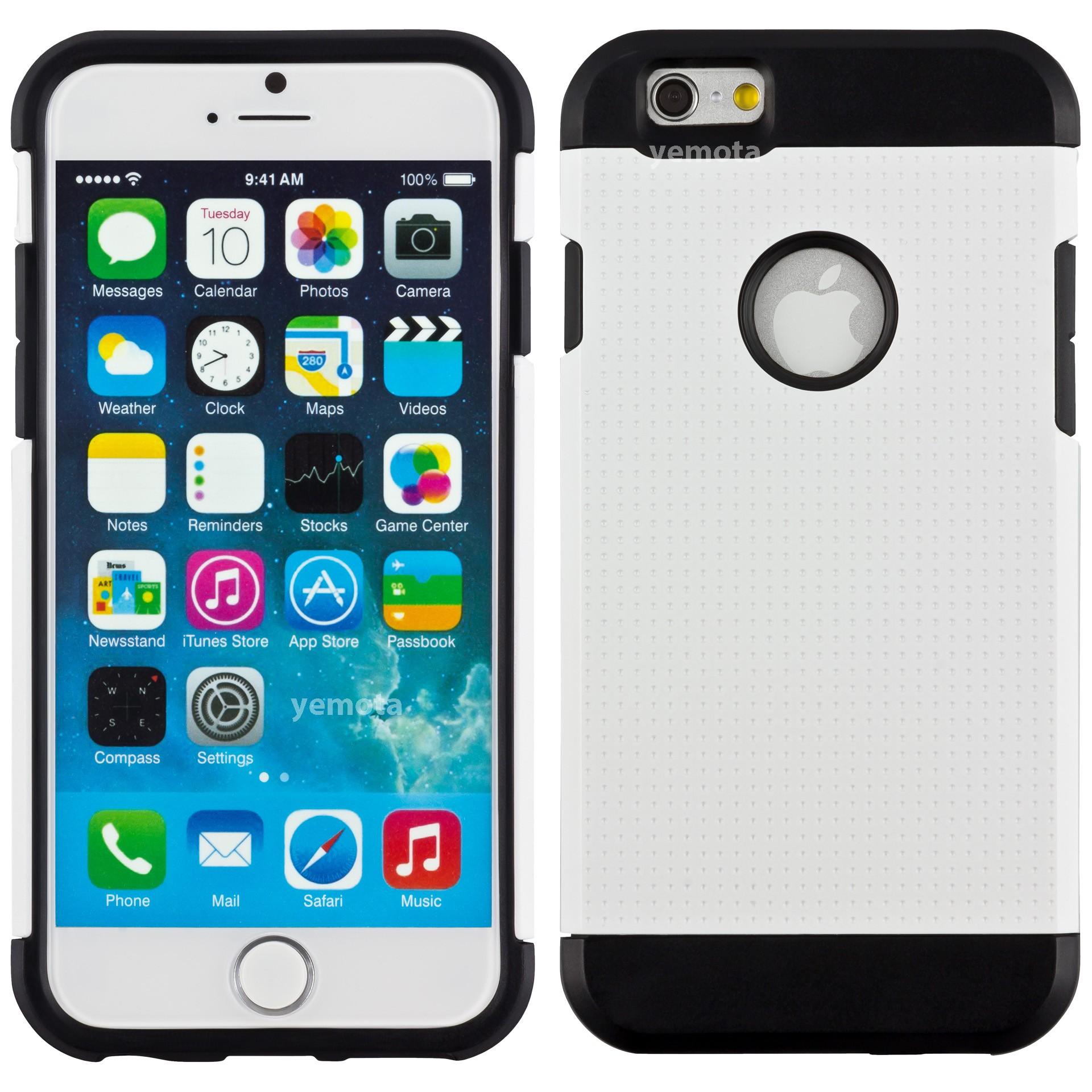yemota pro hardcase f r iphone 6 wei iphone iphone 6 6s zubeh r h llen taschen. Black Bedroom Furniture Sets. Home Design Ideas