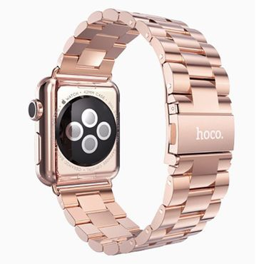 Hoco Apple Watch 42 mm Stainless Steel Armband - Roségold - Thumb 2