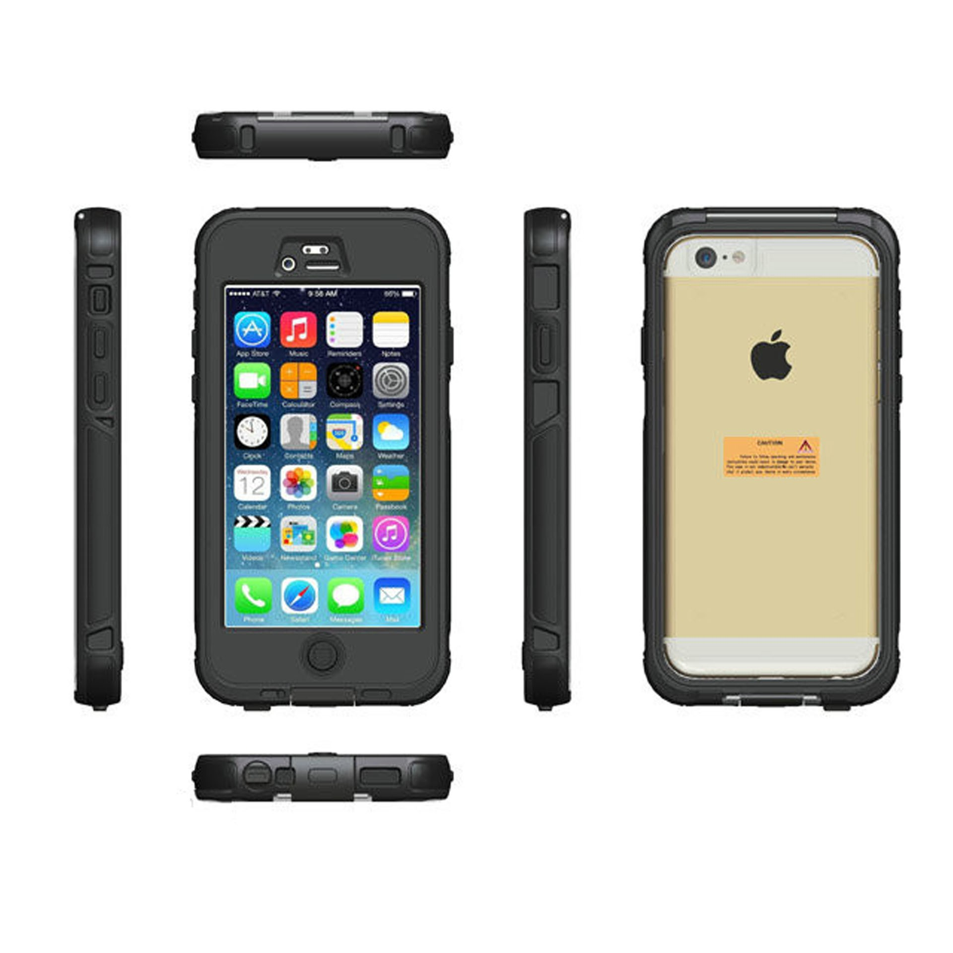 Yemota Pro Waterproof 3m Case iPhone 6 / 6S - Schwarz