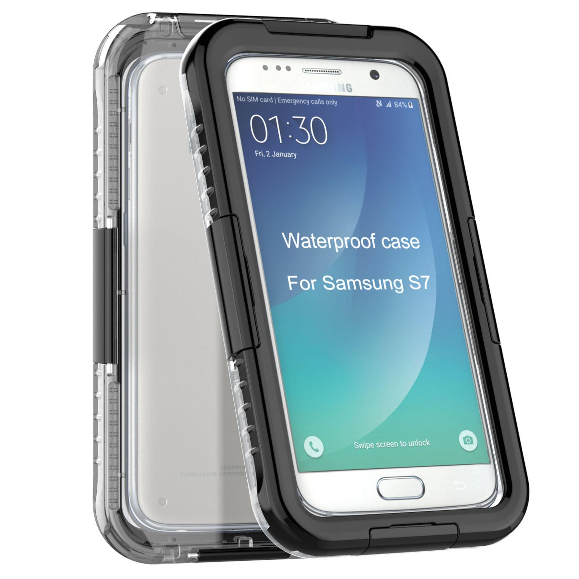 Yemota Pro Waterproof Case Samsung Galaxy S7 - Schwarz