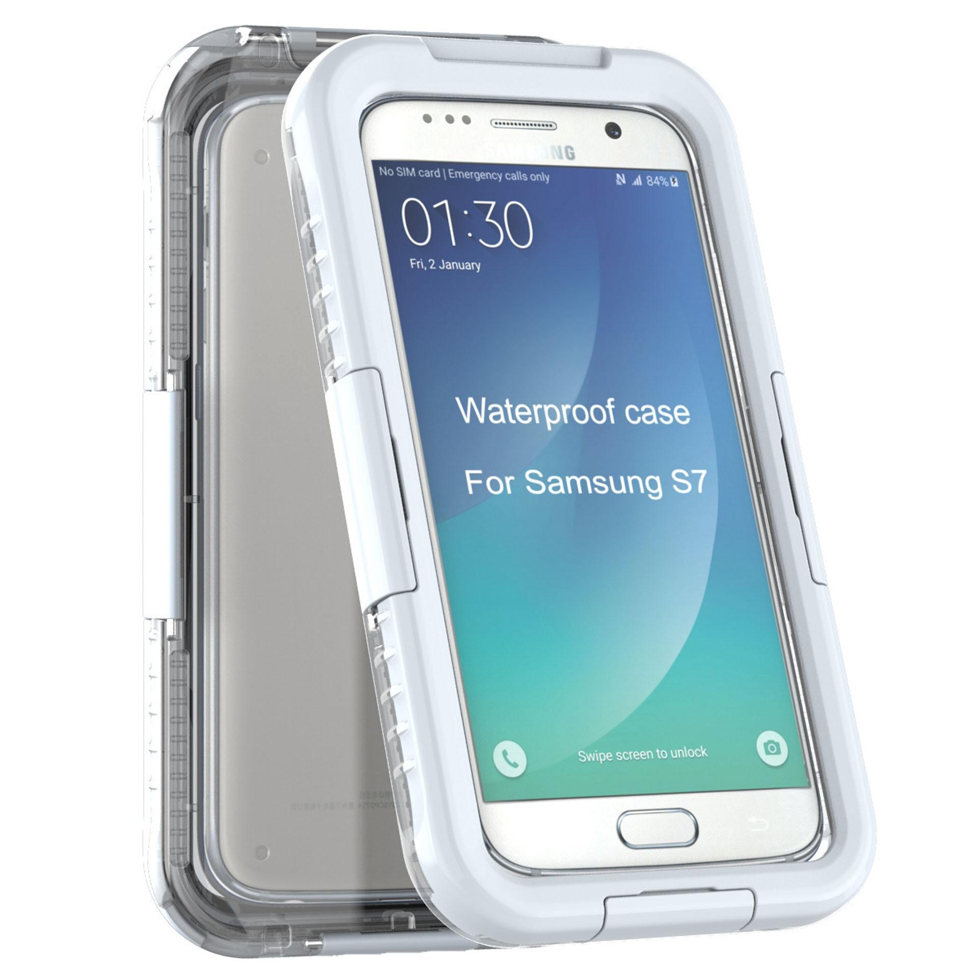 Yemota Pro Waterproof Case Samsung Galaxy S7 - Weiß