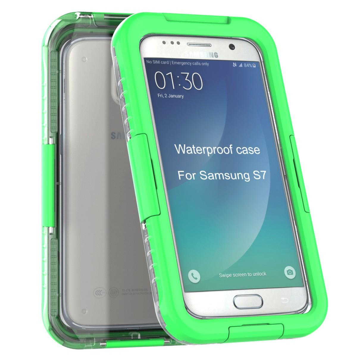 Yemota Pro Waterproof Case Samsung Galaxy S7 - Grün