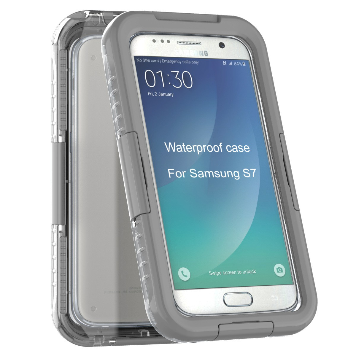 Yemota Pro Waterproof Case Samsung Galaxy S7 - Grau