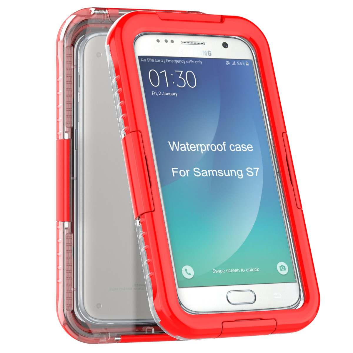 Yemota Pro Waterproof Case Samsung Galaxy S7 - Rot