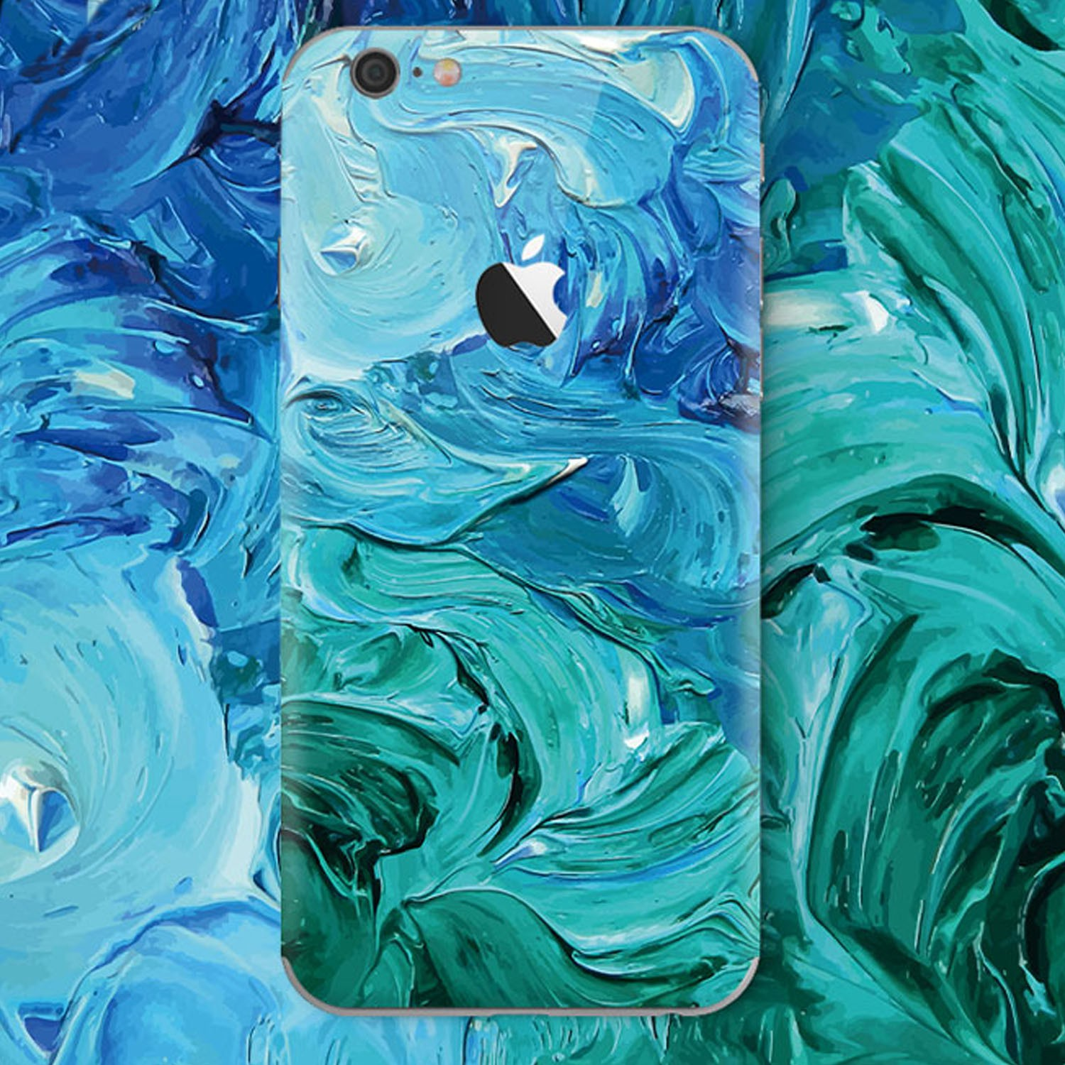 Kritzel Case Blue Wave  für iPhone 6 - KR102