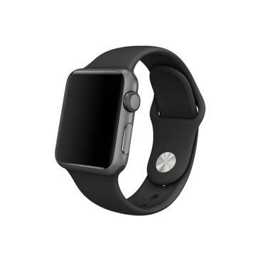 Yemota Pro Apple Watch 38 mm Silikon Armband - Schwarz - Thumb 1