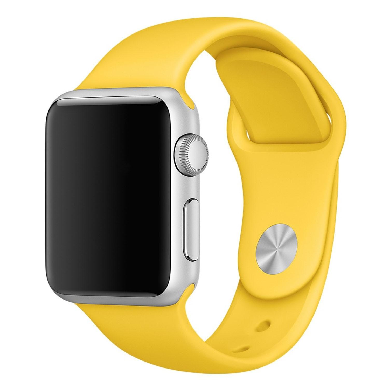 Yemota Pro Apple Watch 38 mm Silikon Armband - Gelb