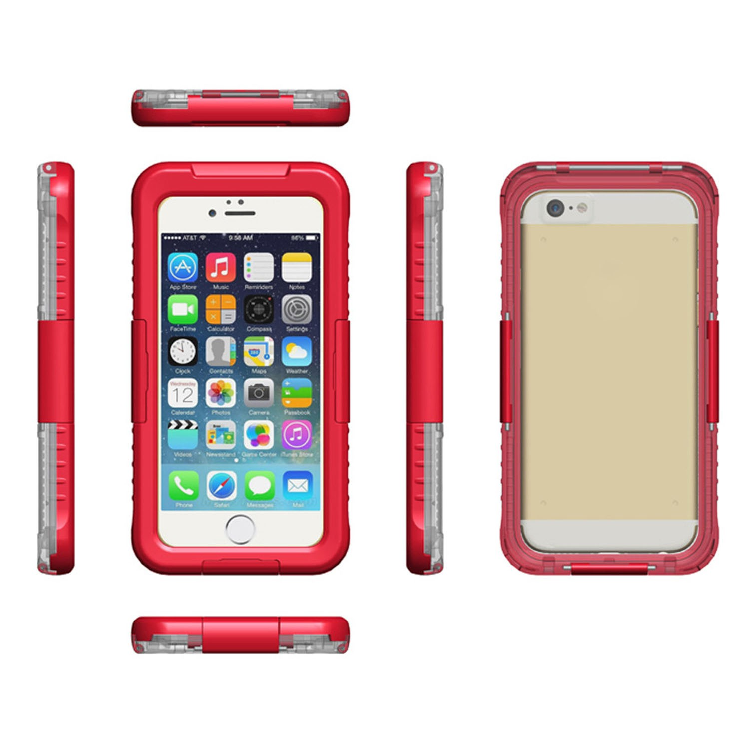 Yemota Pro Waterproof Case iPhone 6 / 6S - Rot