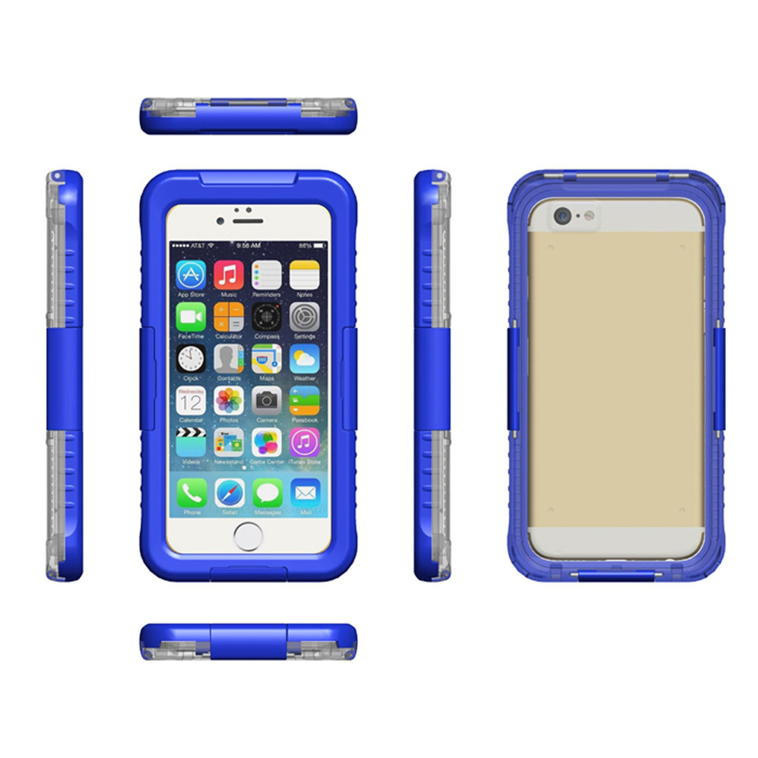 Yemota Pro Waterproof Case iPhone 6 / 6S - Blau