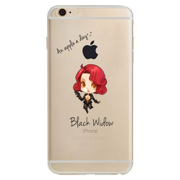 Kritzel Case iPhone 6 / 6s - Black Widow