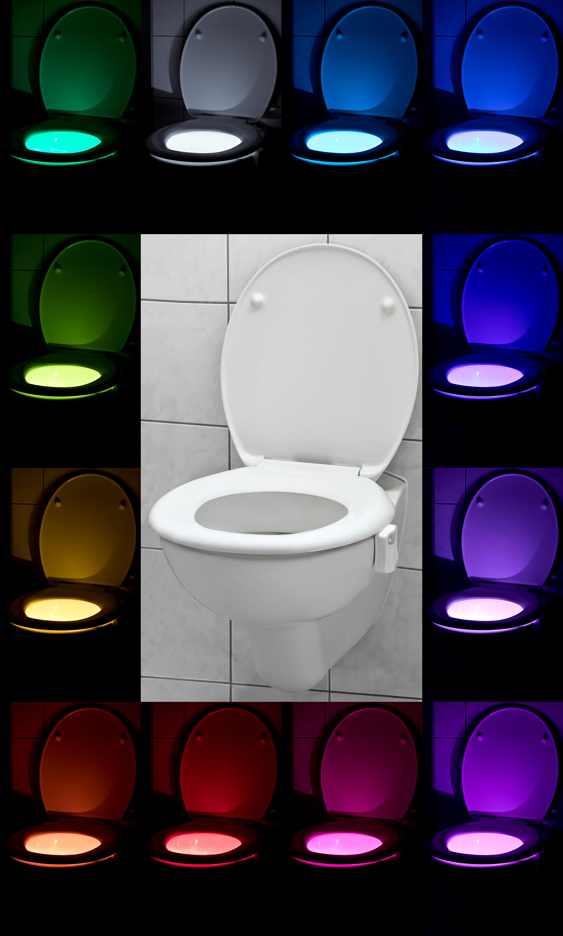 led toiletten licht - klolicht – bunter wc sitz – toilet light mit