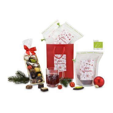 Geschenk Set - Teegebäck - 125 g Confiserie-Gebäck, 3 exklusive Tee-Brühbeutel