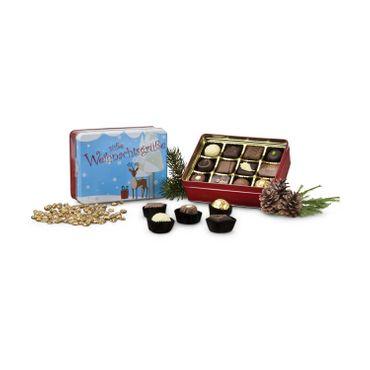 Weihnachtsgeschenk  - 150 g Trüffel & Pralinen in einer Geschenkdose