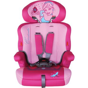 PRINCESS Kindersitz - Gruppe I/II/III (9-36 kg), mit hochwertigem Bezug, gestickt; geprüft nach ECE44/04