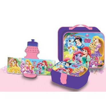 Disney Princess - 3tlg Set: Lunchbox Brotdose + Trinkflasche + Tasche