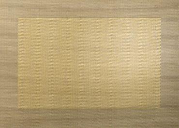 ASA Tischset gold metallic mit gewebtem Rand 33x46cm 1 Stück