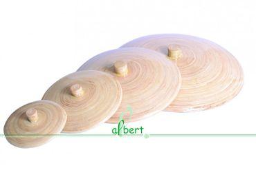 Bambus Deckel mittel natur 24cm Handarbeit