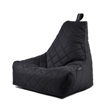 B-bag gesteppter In- und Outdoor Sitzsack in schwarz – Bild 1