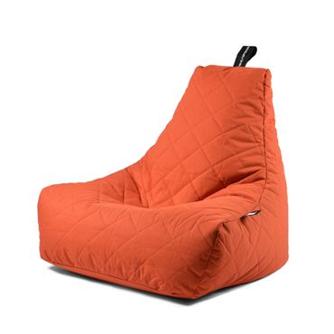 B-bag gesteppter In- und Outdoor Sitzsack in orange