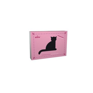 Wärmekissen Katze Minina sitzend gross Purpur – Bild 3