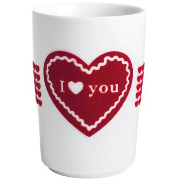 Maxi-Becher I LOVE YOU touch! 0,35 l rot