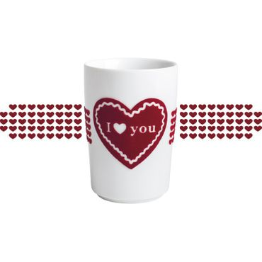 Maxi-Becher I LOVE YOU touch! 0,35 l rot – Bild 2
