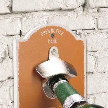 Wand-Flaschenöffner - Flasche grün – Bild 2