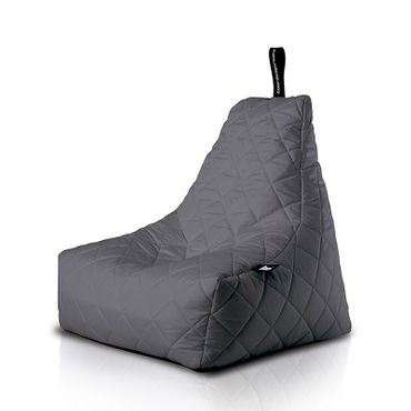 B-bag gesteppter Indoor/Outdoor Sitzsack grau
