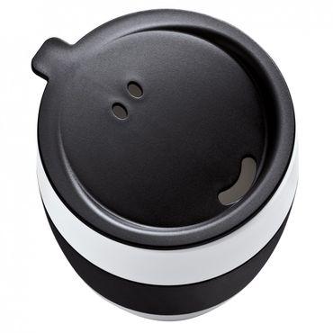 AROMA TO GO Thermobecher mit Deckel schwarz 400ml – Bild 1
