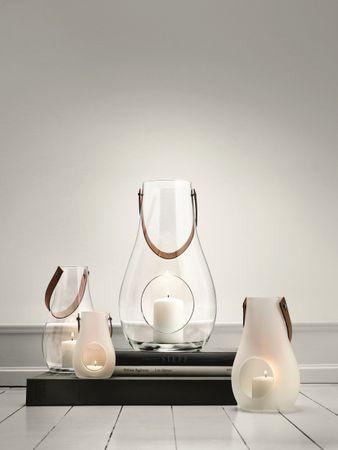 Rosendahl Laterne mit Lederhenkel Milchglas 25 cm – Bild 5