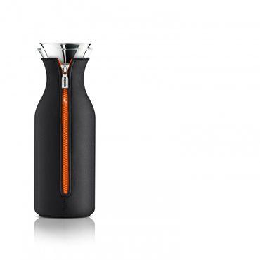 Kühlschrankkaraffe mit Neoprenanzug 1 L Black/Orange  – Bild 1