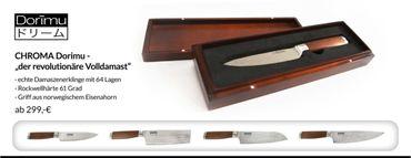 CHROMA Dorimu Kochmesser - ein echtes Damaszenermesser D-04 20 cm – Bild 8
