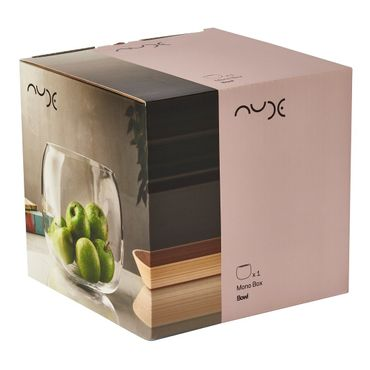 Nude Mono Box Vase L transparent – Bild 4