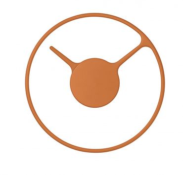Stelton Wanduhr Time orange